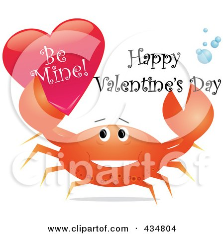 royalty  rf clipart illustration   festive crab