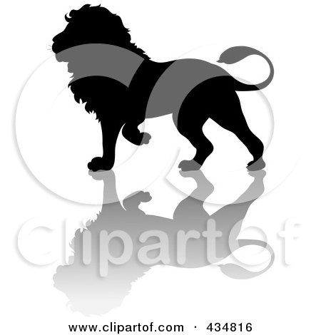 Royalty Free Rf Silhouetted Lion Clipart Illustrations