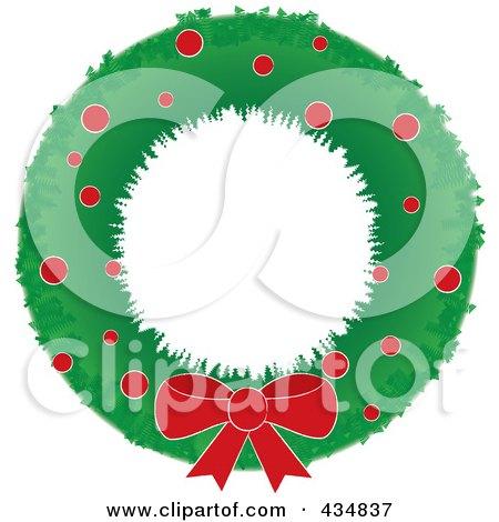 Royalty-Free (RF) Christmas Wreath Clipart, Illustrations, Vector ...