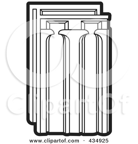 Royalty-Free (RF) Clipart Illustration of an Outlined Tile by Lal Perera