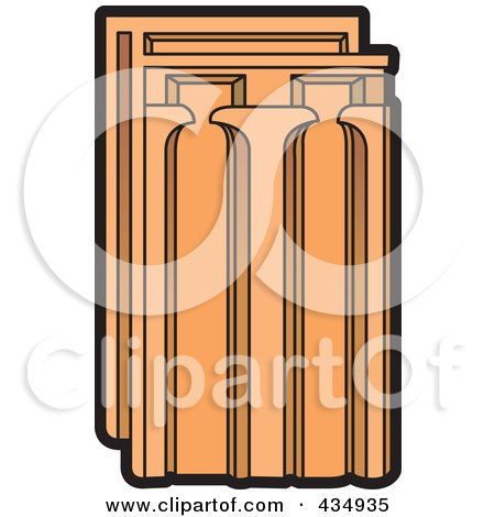 Royalty-Free (RF) Clipart Illustration of a Terra Cotta Tile by Lal Perera