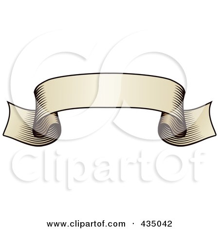 Royalty-Free (RF) Clipart Illustration of an Antique Ribbon Banner - 8 by AtStockIllustration