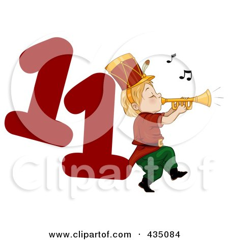 Royalty-Free (RF) Clipart Illustration of a Christmas ...