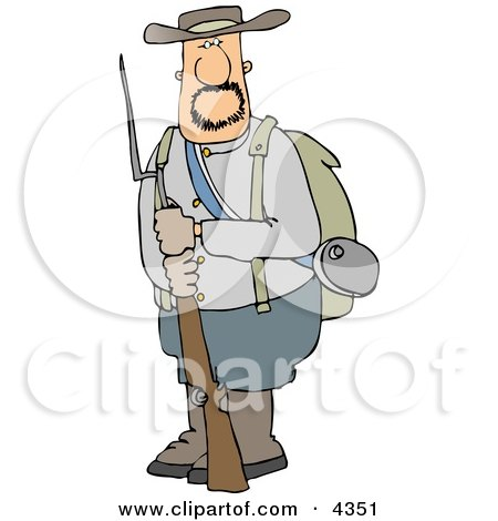 Confederate Army Soldier Holding a Rifle with a Bayonet Posters, Art Prints