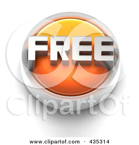Royalty-Free (RF) Clipart Illustration of a 3d Orange FREE Button by Tonis Pan