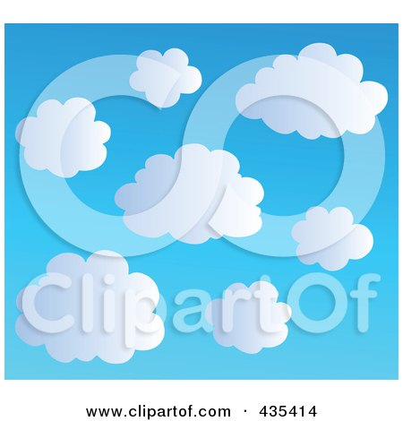 Royalty-Free (RF) Clipart Illustration of a Blue Sky With Clouds - 2 by visekart