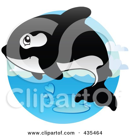 Royalty-Free (RF) Clipart Illustration of a Logo Of An Orca by visekart