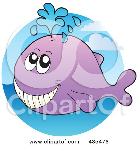 Royalty-Free (RF) Clipart Illustration of a Logo Of A Whale by visekart