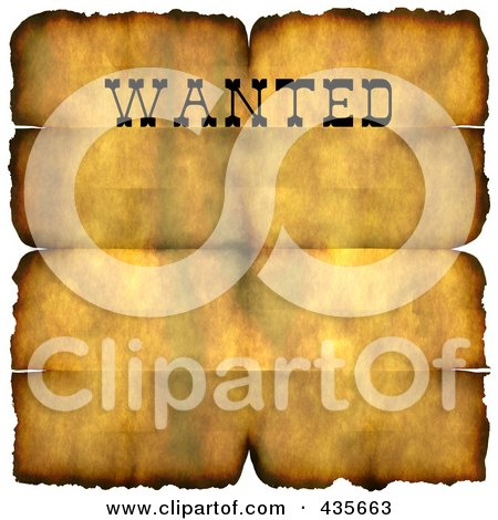 Poster  on Poster  Art Print  Grungy Wanted Parchment Sign With Burnt Edges And