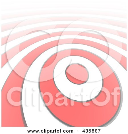 Royalty-Free (RF) Clipart Illustration of a Stretched Bullseye Ring Pattern by Jiri Moucka