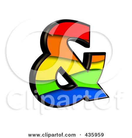 Royalty-Free (RF) Clipart Illustration of a 3d Rainbow