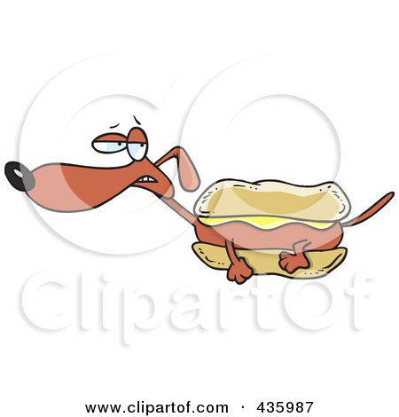 Happy Hot Dog With Mustard Posters, Art Prints by visekart - Interior ...