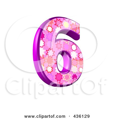 3d Pink Burst Symbol; Number 6 Posters, Art Prints by chrisroll ...