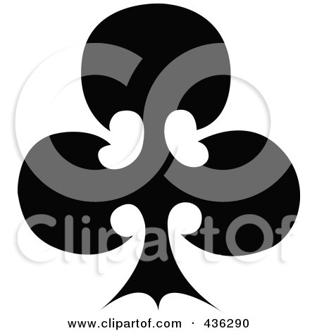 Royalty-Free (RF) Clipart Illustration of a Black Club by Andy Nortnik