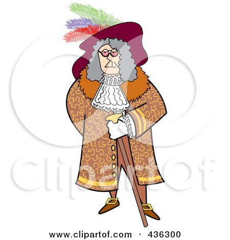 Royalty-Free (RF) Clipart Illustration of a Male Pirate With A Cane by Andy Nortnik