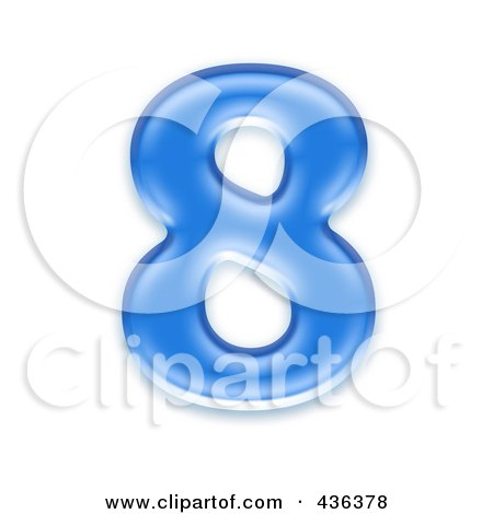 Royalty-Free (RF) Clipart Illustration of a 3d Blue Symbol; Number 8 by chrisroll