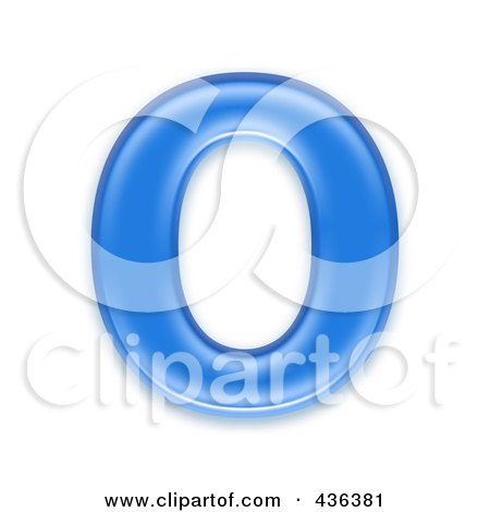Royalty-Free (RF) Clipart Illustration of a 3d Blue Symbol; Capital Letter O by chrisroll