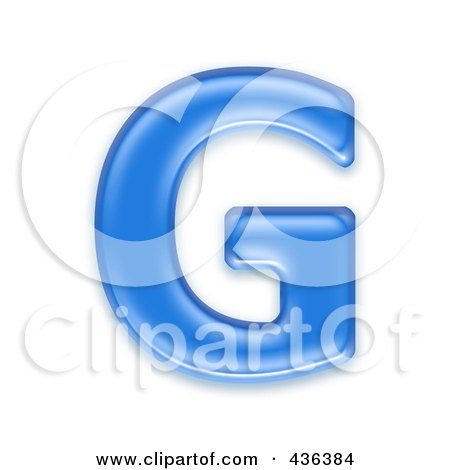 Royalty-Free (RF) Clipart Illustration of a 3d Blue Symbol; Capital Letter G by chrisroll