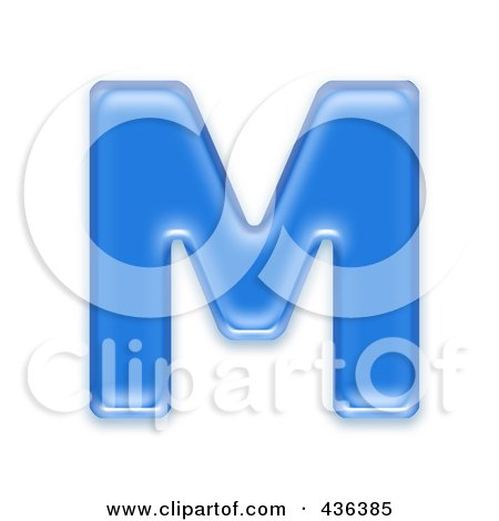 Royalty-Free (RF) Clipart Illustration of a 3d Blue Symbol; Capital Letter M by chrisroll