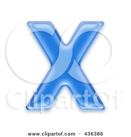 Royalty-Free (RF) Clipart Illustration of a 3d Blue Symbol; Capital Letter X by chrisroll
