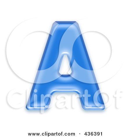 Royalty-Free (RF) Clipart Illustration of a 3d Blue Symbol; Capital Letter A by chrisroll