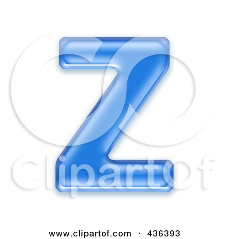 Royalty-Free (RF) Clipart Illustration of a 3d Blue Symbol; Capital Letter Z by chrisroll