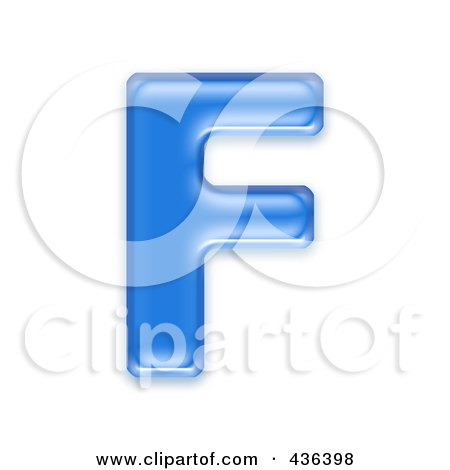 Royalty-Free (RF) Clipart Illustration of a 3d Blue Symbol; Capital Letter F by chrisroll
