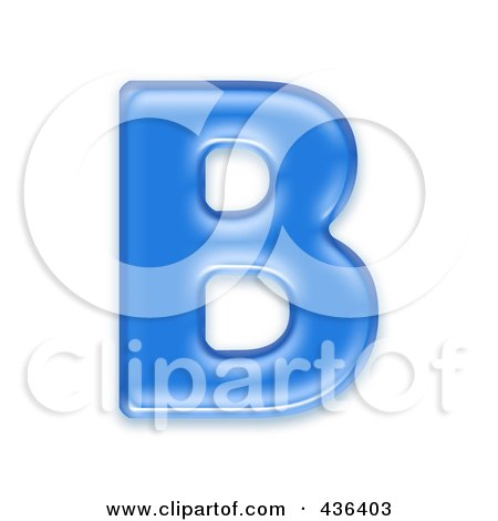 Royalty-Free (RF) Clipart Illustration of a 3d Blue Symbol; Capital Letter B by chrisroll