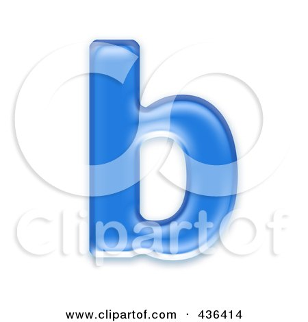 Royalty Free Rf Clipart Illustration Of A 3d Blue Symbol