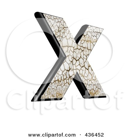 Royalty-Free (RF) Clipart Illustration of a 3d Cracked Earth Symbol; Capital Letter X by chrisroll