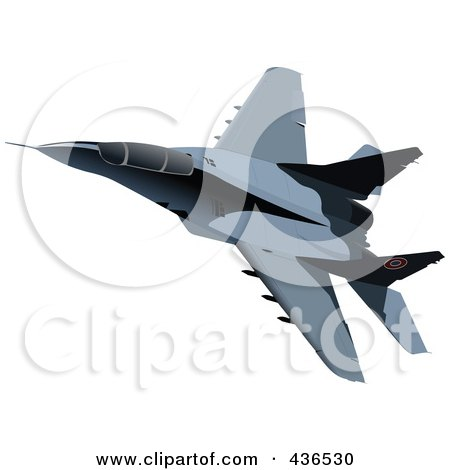 Clipart Air Force Jet 4 - Royalty Free Vector Illustration by ...