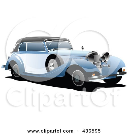 Royalty-Free (RF) Clipart Illustration of a Vintage Car - 2 by leonid