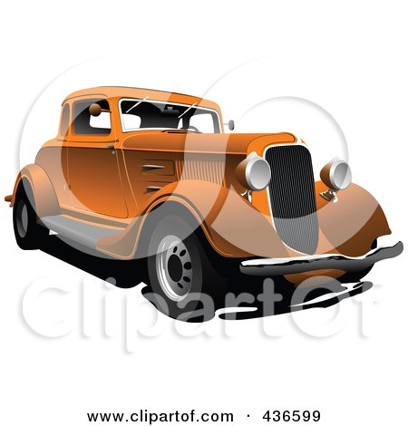 Royalty-Free (RF) Clipart Illustration of a Vintage Car - 4 by leonid