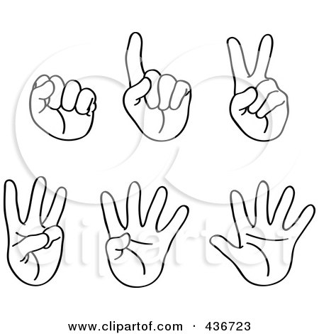 Fingers Counting Clipart Royalty-free (rf) clipart