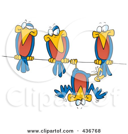 Royalty-Free (RF) Birds On A Wire Clipart, Illustrations, Vector ...