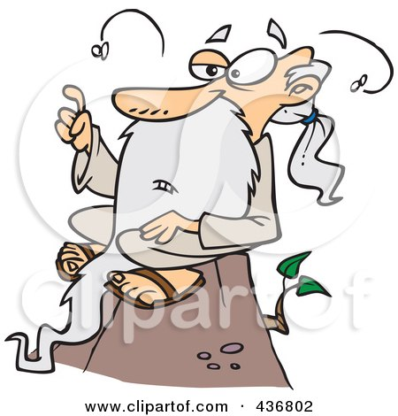 Royalty-Free (RF) Clipart Illustration of a Stinky Old Wise  Man Sitting On A Hill by toonaday