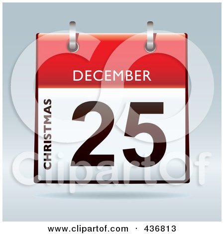 Royalty-Free (RF) Clipart Illustration of a 3d December 25th, Boxing Day Calendar by michaeltravers