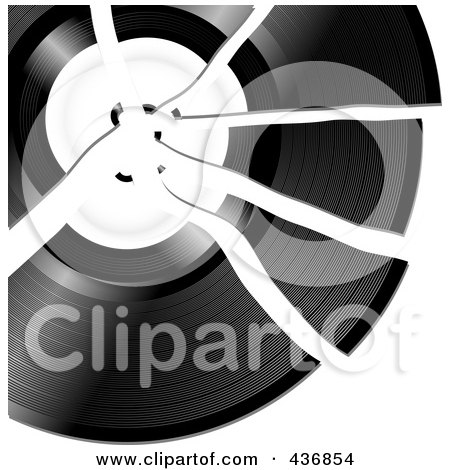 Royalty-Free (RF) Clipart Illustration of a Broken Record by elaineitalia