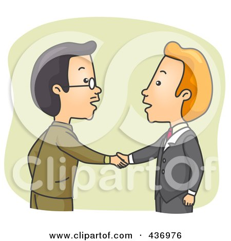 Royalty Free Handshake Illustrations by BNP Design Studio Page 1
