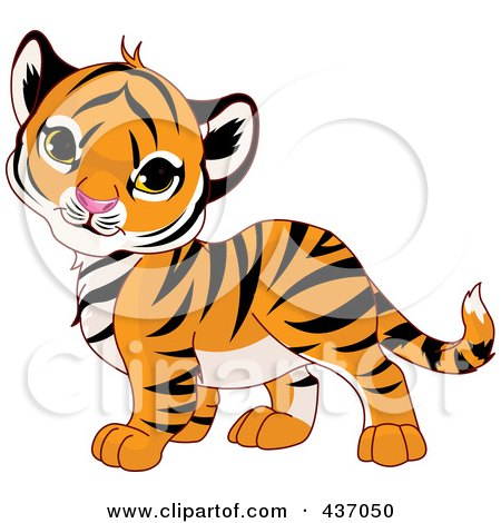 Free Clip on Royalty Free  Rf  Clipart Illustration Of A Cute Baby Tiger Tilting