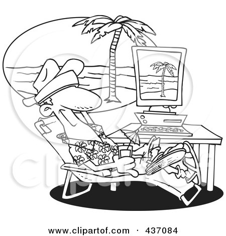 Pictures Of Vacation Clipart Black And White