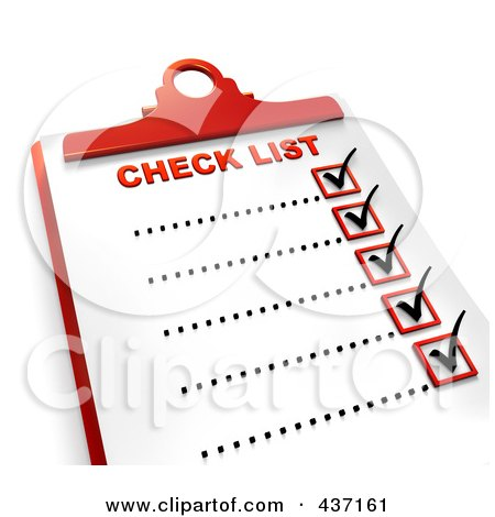 Royalty-Free (RF) Clipart Illustration of a 3d Complete Checklist On A ...