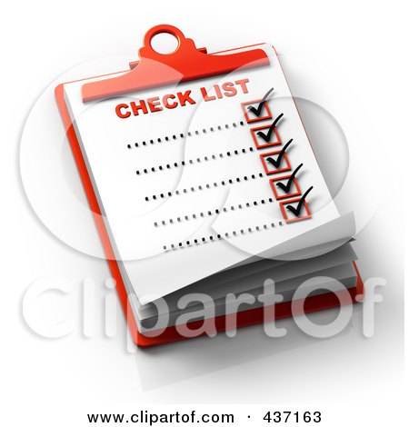 Royalty-Free (RF) Clipart Illustration of a 3d Complete Checklist On A Clipboard - 2 by Tonis Pan