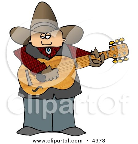 Country Cowboy Playing an Acoustic Guitar Posters, Art Prints
