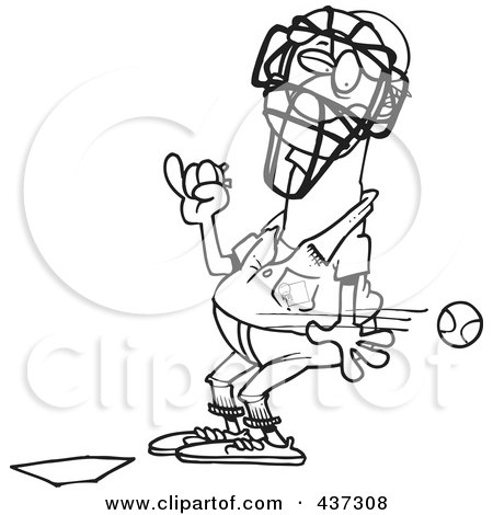 Royalty-Free (RF) Clip Art Illustration of a Cartoon Black ...