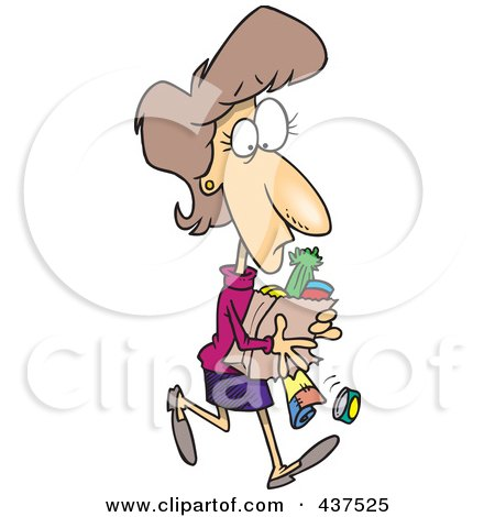 Full Grocery Cart Clipart Royalty-Free (RF) Clip...