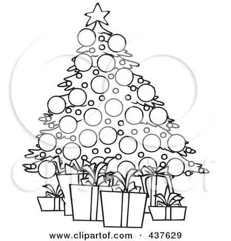 Royalty Free Christmas Tree Illustrations By Toonaday Page 1