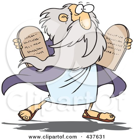 Royalty-Free (RF) Clip Art Illustration of a Moses Carrying Tablets by toonaday