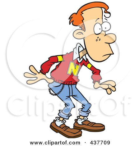 Royalty-Free (RF) Clip Art Illustration of a Shocked Teen Boy by toonaday