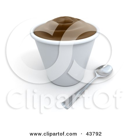 Cup Of Chocolate Pudding Or Frozen Yogurt Posters, Art Prints